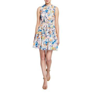 Tilly Floral-Print Ruffle Dress