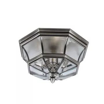 Quoizel Newbury Outdoor Flush Mount in Pewter