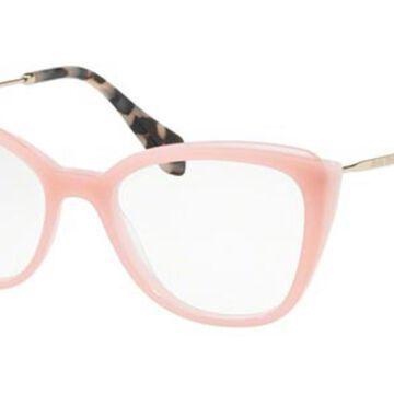 Miu Miu MU02QV VYB1O1 Womens Glasses Pink Size 51 - Free Lenses - HSA/FSA Insurance - Blue Light Block Available