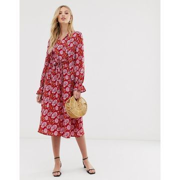 Y.A.S floral print long sleeve smock dress