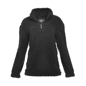 Boxercraft Pullover Sweaters BLK - Black Sherpa Pullover - Adult