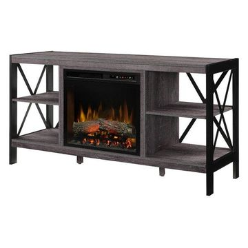 Ramona Media Console Electric Fireplace With Logs