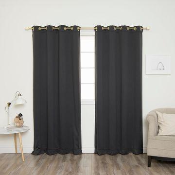 Aurora Home Gold Grommet Blackout Curtain Pair