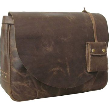 AmeriLeather Vintage Flapover Messenger Brief