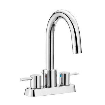 Design House 548255 Eastport Centerset Bathroom Faucet, Polished Chrome