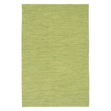 India Contemporary Area Rug, Green, 3'6x5'6 Rectangle
