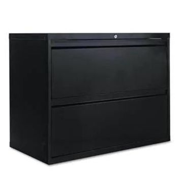 Alera Two-Drawer Lateral File Cabinet, Black