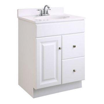 Design House 545004 Wyndham Unassembled 1-Door 2-Drawer Vanity without Top, 24