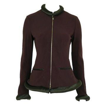 Jean Paul Gaultier Burgundy Wool Jackets