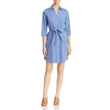 Foxcroft Womens Taylor V-Neck Casual Shirtdress