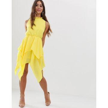AX Paris midi dress in yellow