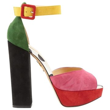 Charlotte Olympia Multicolour Suede Sandals