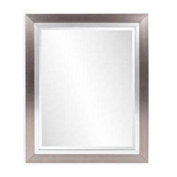 Howard Elliott Chicago 18-Inch Square Wall Mirror in Silver Leaf