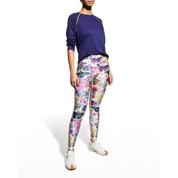 Tall Band Butterfly Active Leggings