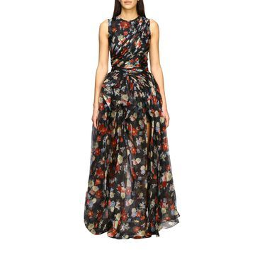 Ermanno Scervino Dress Ermanno Scervino Long Dress In Printed Silk