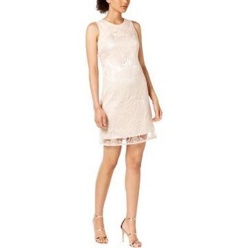 Taylor Womens Sequined Sleeveless Cocktail Dress
