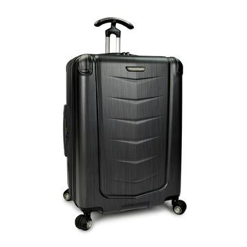 Traveler's Choice Silverwood 26-inch Polycarbonate Hardside Spinner Upright Suitcase (Brushed Metal)