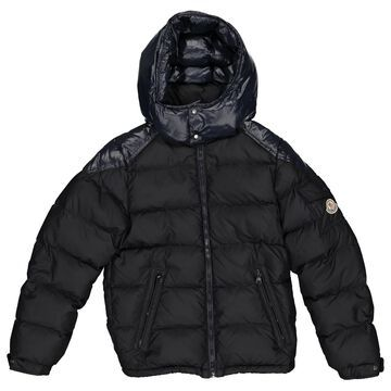 Moncler Black Polyester Jacket & Coat