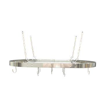 Black Enamel Oval Ceiling Pot Rack