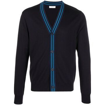 contrasting trim wool cardigan