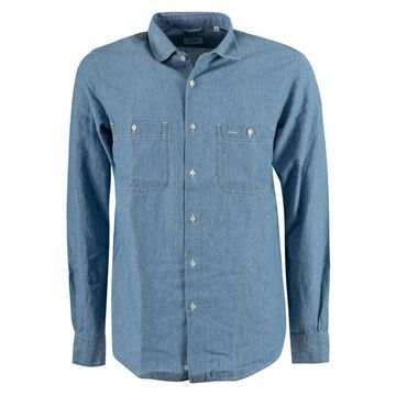 Aspesi Patched Pocket Denim Shirt