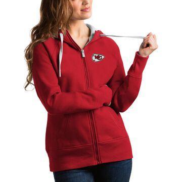 Women's Antigua Red Kansas City Chiefs Victory Full-Zip Hoodie