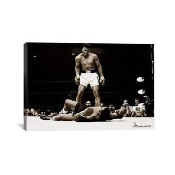 "iCanvas Muhammad Ali vs. Sonny Liston, 1965 by Muhammad Ali Enterprises Wrapped Canvas Print - 26"" x 40"""