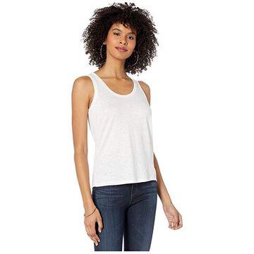 Majestic Filatures Linen/Elastane Tank Top (Blanc) Women's Clothing