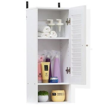 Furinno 16069 Indo Slim Wall Cabinet, Multiple Options