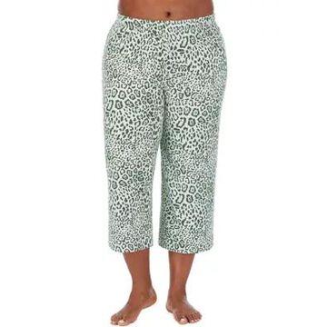 Ellen Tracy Women's Plus Size Animal Print Pajama Capris - -