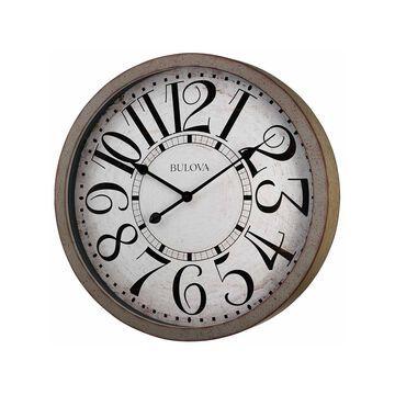 Bulova White Wall Clock-C4815