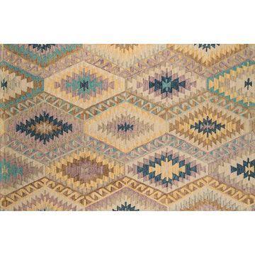 Momeni Tangier Velia Geometric Wool Rug, Multi, 2X3 Ft