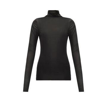 Jil Sander - Roll-neck Stretch-jersey Top - Womens - Black