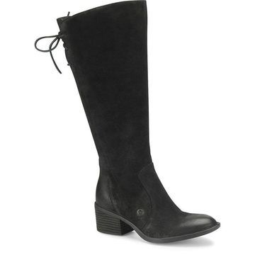 Born Womens Felicia Leather Almond Toe Knee High Fashion Boots