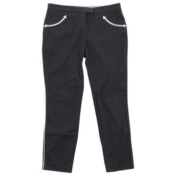 Alexander Mcqueen Black Cotton Trousers