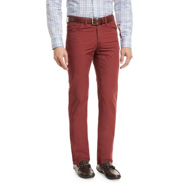 Five-Pocket Cotton Straight-Leg Pants