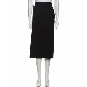 Wool Midi Length Skirt Wool