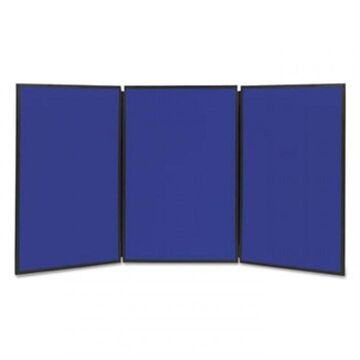 Show-It! Display System, 72 X 36, Blue/gray Surface, Black Frame (Black)