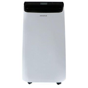 Portable Air Conditioner With Remote Control, White/Black, Up To 250 Sq. Ft.
