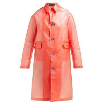 Undercover - Transparent Raincoat - Womens - Red