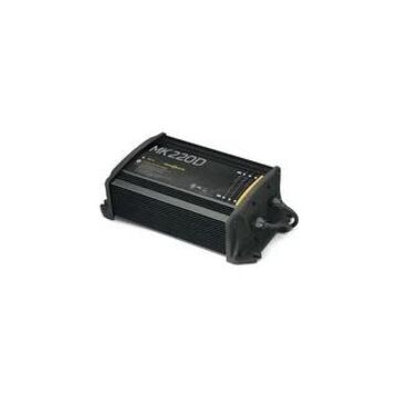 Minn Kota 220D 2-Bank On-board Battery Charger with 20 Amps- 1822200 (Black)