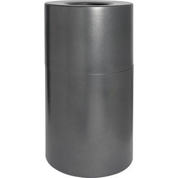 Genuine Joe Classic Cylinder Gray Waste Receptacle, Charcoal