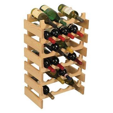 Wooden Mallet 24 Bottle Dakota Wine Rack Unfinished