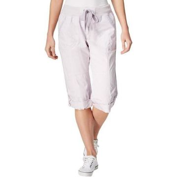 Calvin Klein Performance Womens Convertible Cargo Capri Pants