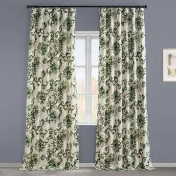 Exclusive Fabrics Indonesian Printed Cotton Twill Curtain (1 Panel)