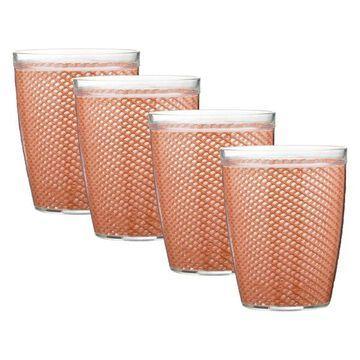 Doublewall Drinkware in Toffee, Set of 4