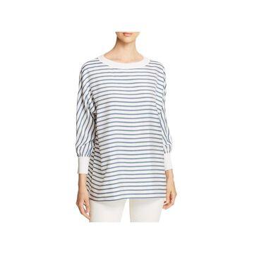 Lafayette 148 New York Womens Joplin Blouse Silk Striped - S