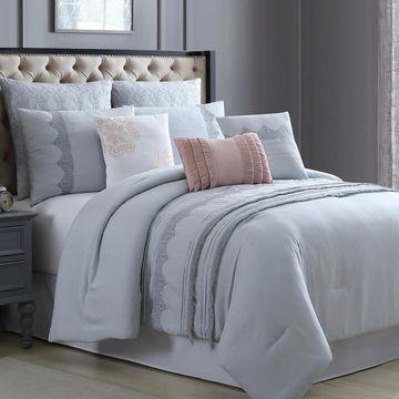 Amrapur Overseas Auroroa 8-Piece Embroidered Comforter Set