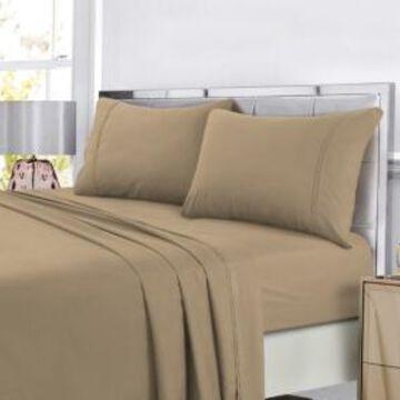Tribeca Living Super Soft Solid Dp Easy-Care Extra Deep Pocket Sheet King Sheet Set Bedding