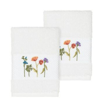 Linum Home Textiles Serenity Embellished Washcloth Set